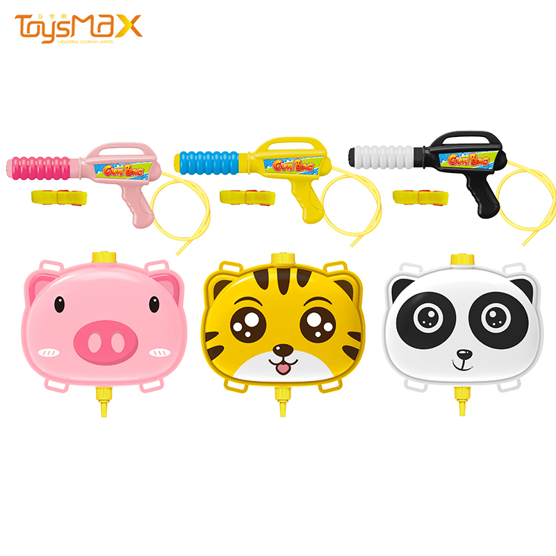 Amazon new arrival summer outdoor toys animal backpack nozzle cheap water gun