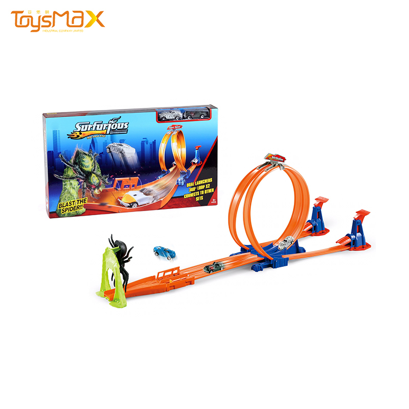 Wholesale Orbit Set Toys Double-loop Catapult Spider Game Race Car Track Toy