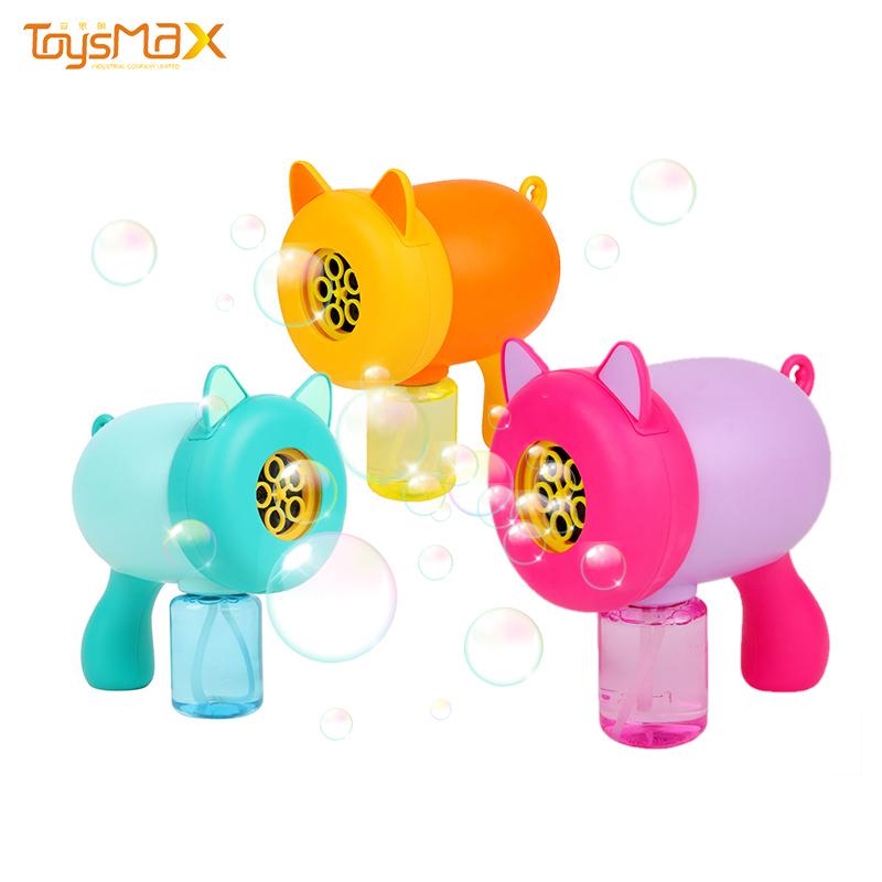 2020 New design outdoor summer bubbles machine toys colorful bubble gun toy