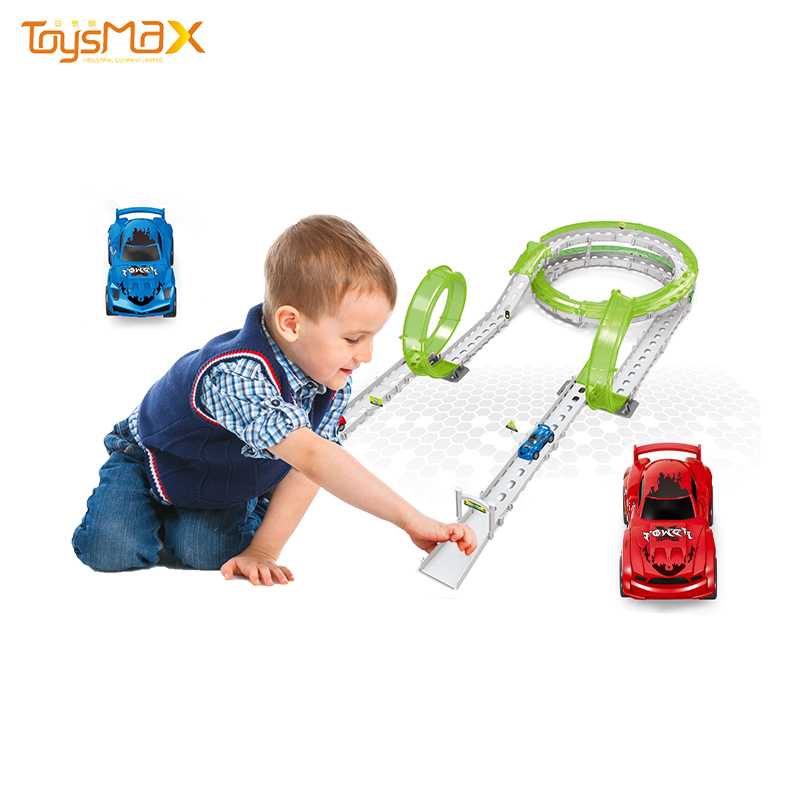 Quality Child educational toy pull back racing toy car diy assemble race track toy cars