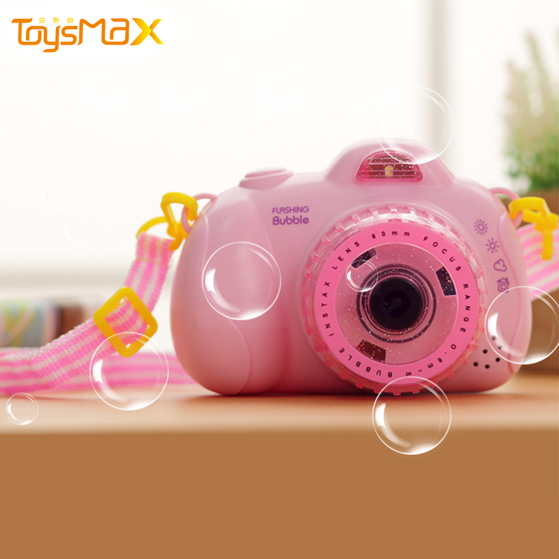 Colorful Bubble Camera Toy Summer Amazon Hot Sale Soap Bubble Machine Outdoor Bubble Camera With Music And Light