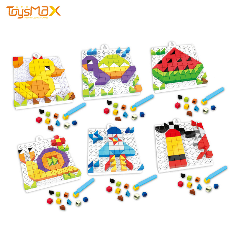 Kids Educational Toys 4 In 1 Plastic 3D Puzzle Funny DIY Toy Brick Puzzle