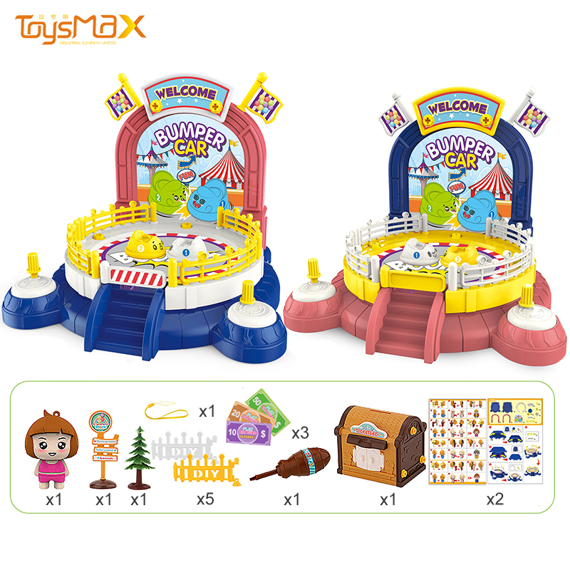 Kids learning toys DIY paradise game toys DIY bumper car toy for children