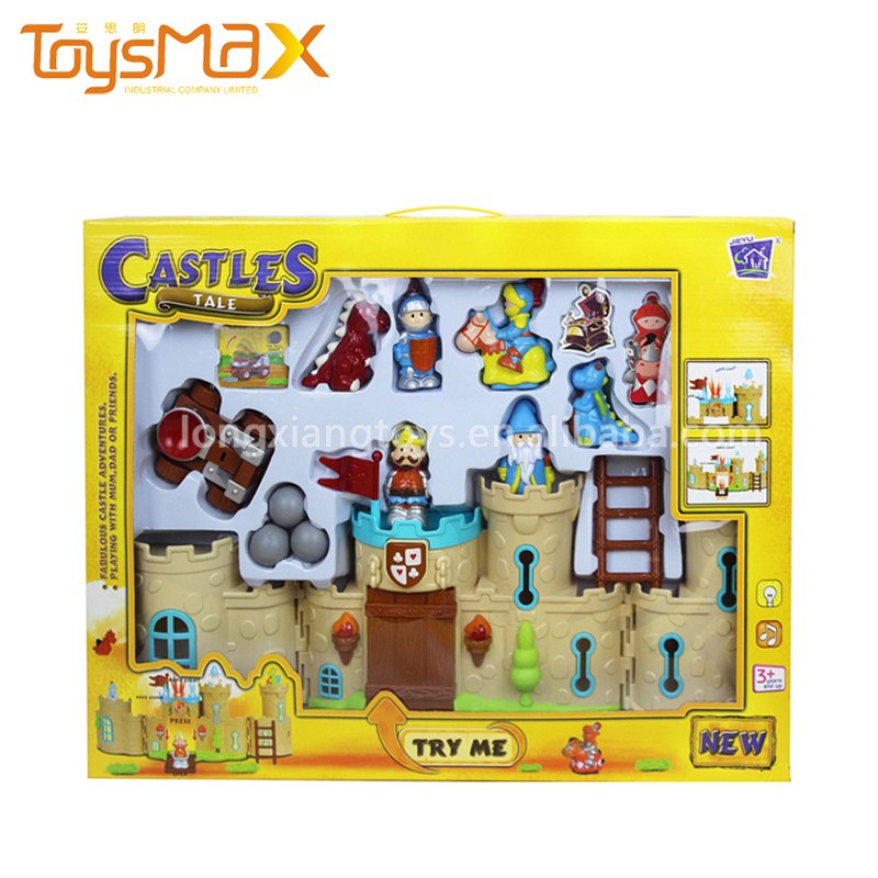 Hot Kids Toy Set Plastic Fashion DIY Castle Toy With Light And Music