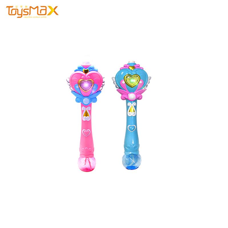 New arrival colorful heart shape bubble magic wand kids toys automatic bubble