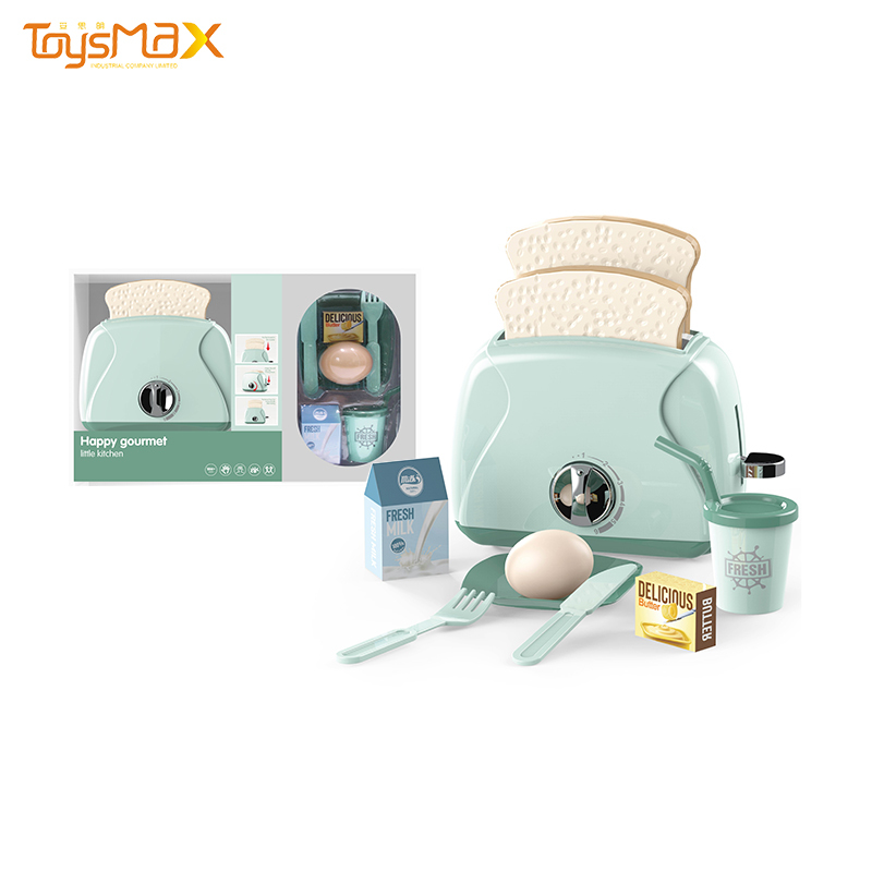 Children pretend play toys cute bread maker toy manual rotation toaster toy