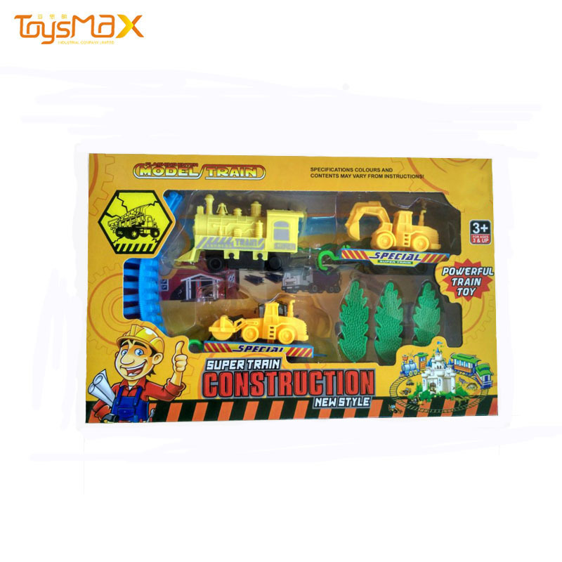 Kids Educational Toys Cartoon Electric Wooden Magnetic Railway Tracks Set