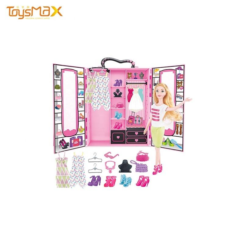 Fashion toy  pretend baby doll game girl wardrobe different cloths 11.5 inch doll set