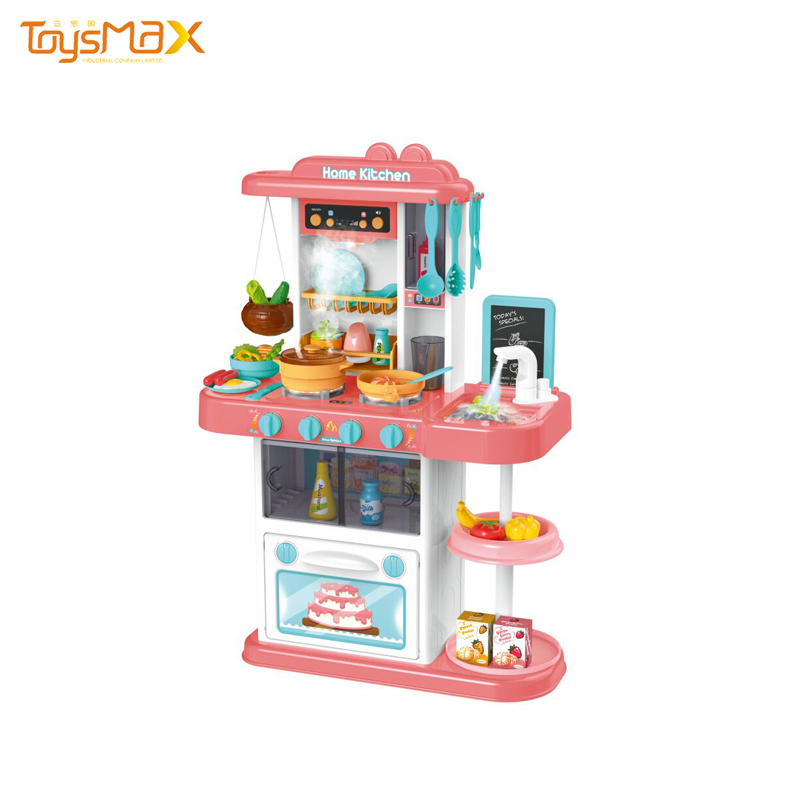 Electronic Baby Pretend Toys Cooking Tool Sets Kitchen Cabinet With Music