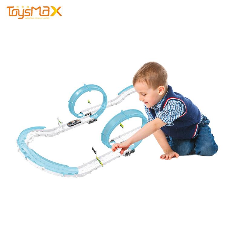 Educational DIY toy track train electric toys with B/O car