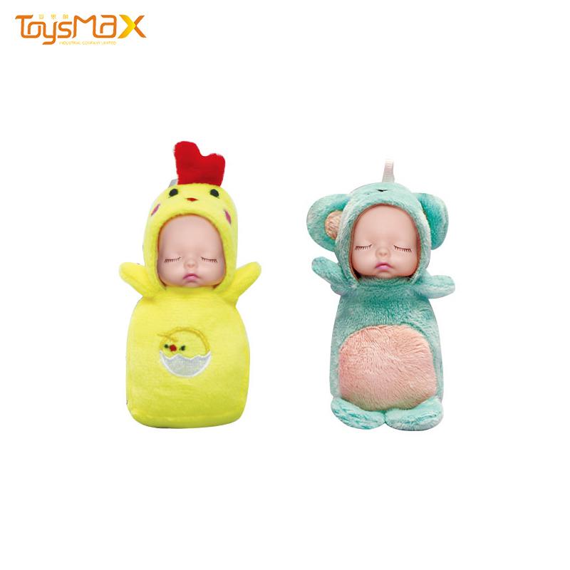 China wholesale sleeping animal funny mini doll with color box