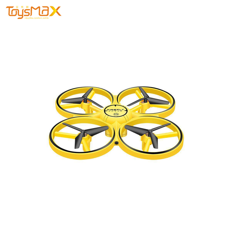 Intelligent Watch Induction UFO Quadcopter Drone With LED Light