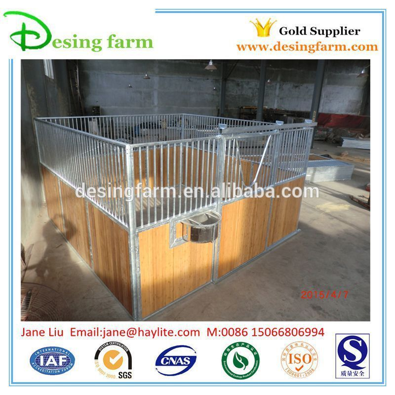 Indoor Safety horse stables with Bamboo Board