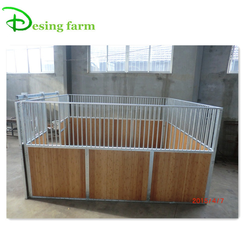 Hot dip galvanized protable horse stall panels