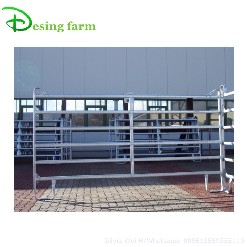 Galvanized horse round pen panels