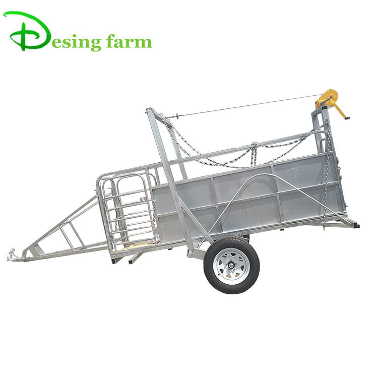 ISO certificated portable livestock trailer for sale