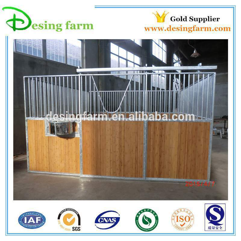 steel horse stables with bamboo panels
