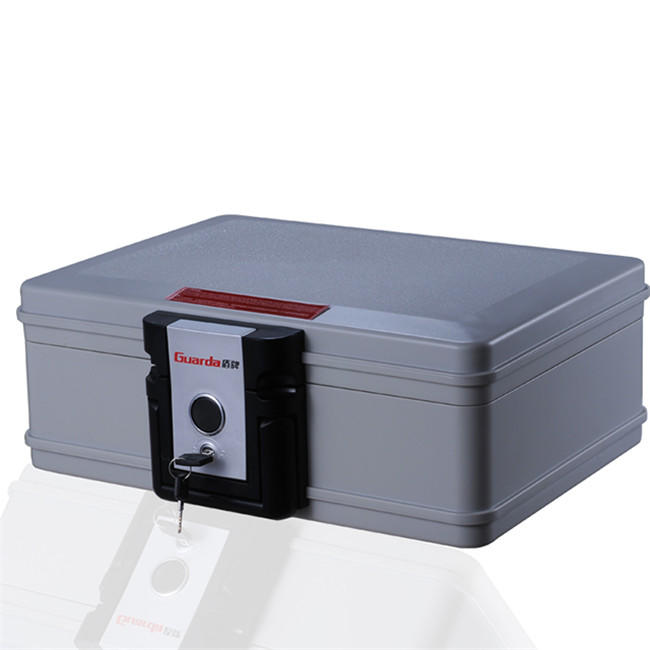Guarda 30mins Fireproof Box and Waterproof Safe Box with Push Button and Key Lock, 6.9L