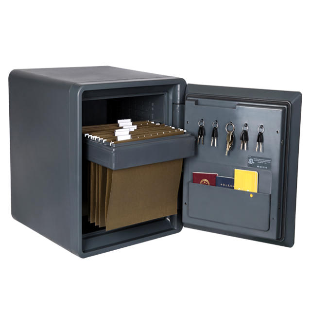 Guarda grey plastic home safe ,fire waterproof documents cash box 2092C-BD