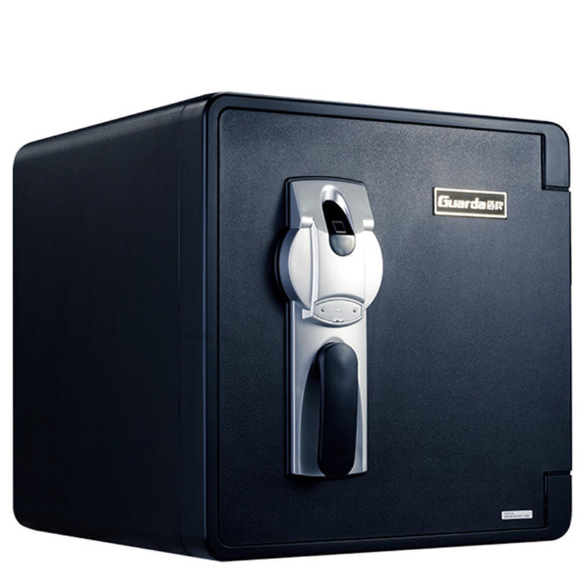 60mins fireproof home safety box with intelligent fingerprint lock 2092LBC black