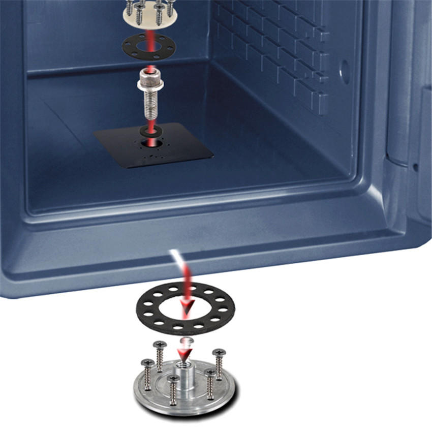 Key lock Document safe with UL72-350 1- hour fireproof and 8 hour waterproof under 300mm