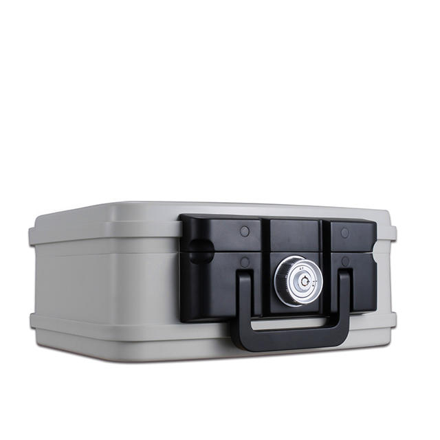 Hot sale small 30 mins Fire safe jewelry/travel box water proof safe box,light duty design with carry handle box