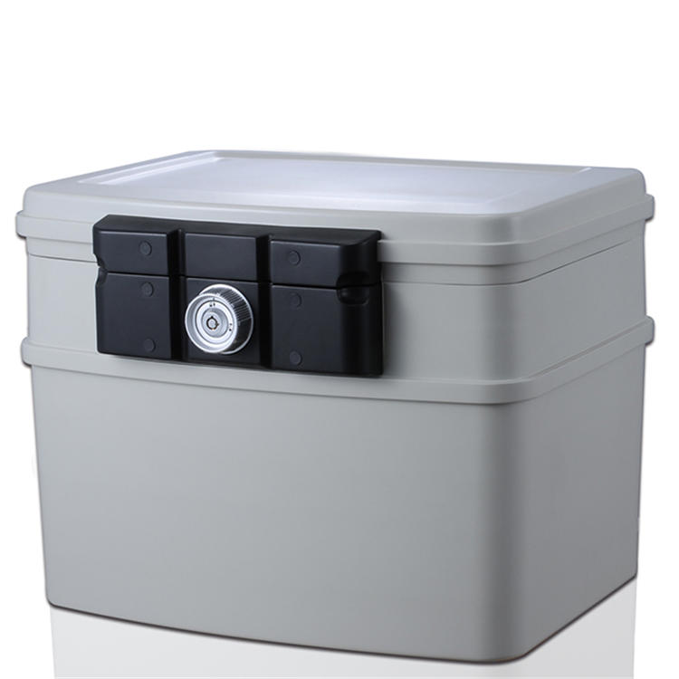 Plastic storage boxes for office fire safety,30-min fireproof/24- hour waterproof safe box