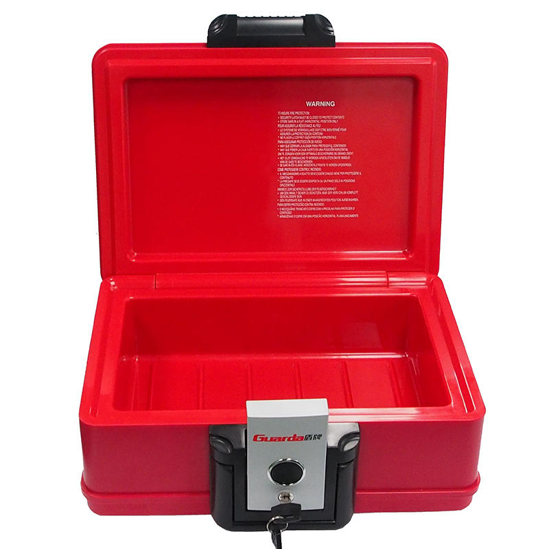 Guarda Stylish Red color Fire-resistant chests water resistant safe box