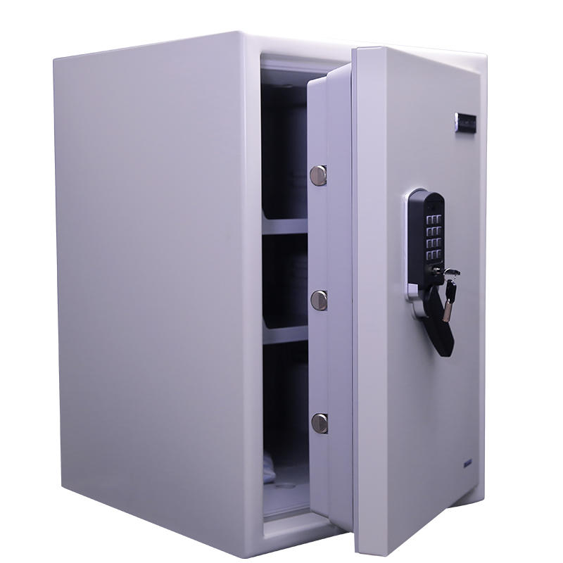 White Metal Resin Fireproof Waterproof Safe for Home Safety (Guarda 3245WSD-BD)