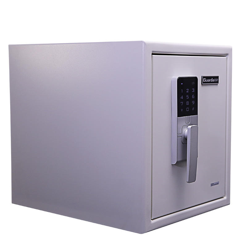 Smart Touch Screen Fireproof Security Safe Box Water Proof Safe 370*513*450mm White Office Home Safety Used Box