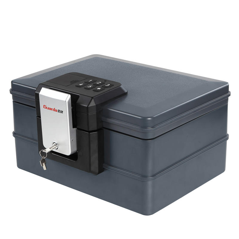 Guarda 30 Mins Fireproof Safe Waterproof Chest with Digital Lock, Protect A4 Paper /Envelope /Passports