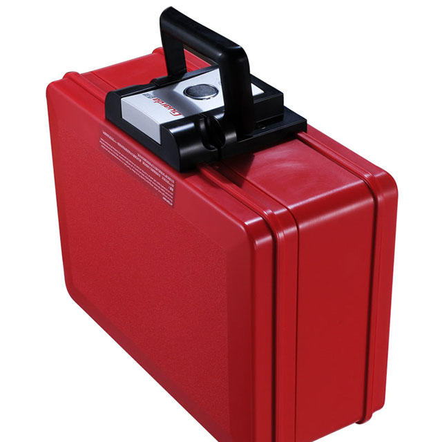 Fireprood safe boxGurada safe portable waterproof safe chest (Red, 35.4*28.2*15.4cm, 2013CR)