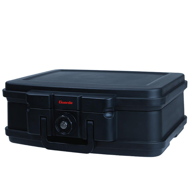 Guarda Safes & Turnnob Locks-30mins Fire Safe Waterproof Safe Box Chest with Carry Handle, Small , 2125 (Black))