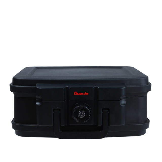 Guarda Safes & Turnnob Locks-30mins Fire Safe Waterproof Safe Box Chest with Carry Handle, 2117 (Black))