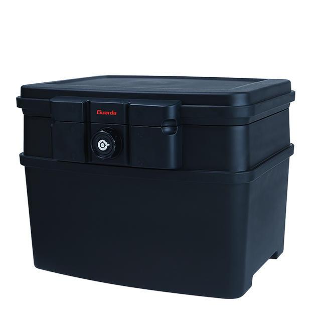 Guarda Safes & Turnob Locks-30mins Fire Safe Waterproof Safe Box Chest fit A4 hanging file folders,Large,2162 (Black))