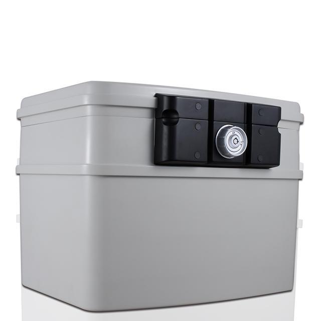 Guarda Safes & Turnob Locks-30mins Fire Safe Waterproof Safe Box Chest fits A4 hanging file folders,Large,2162(White)