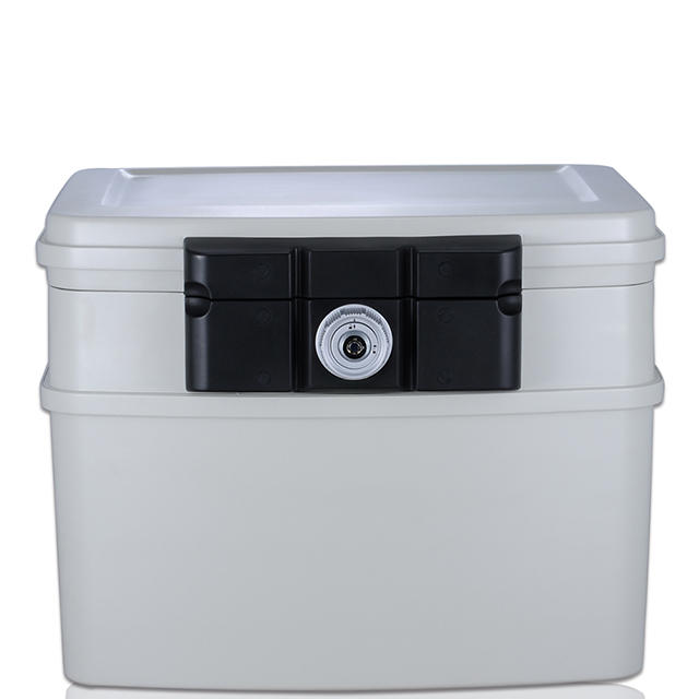 White Color Files Protection Fireproof Waterproof Safe Box 440*370*340mm