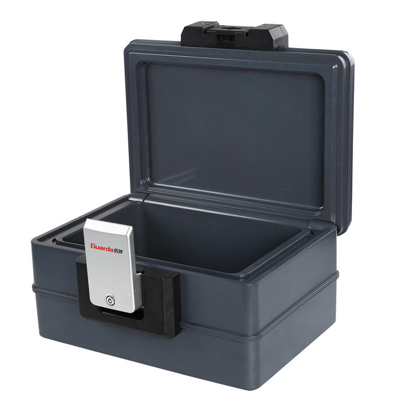 A4 Size 30 Mins Fireproof Waterproof Safe Chest 407*322*214mm with Key Lock