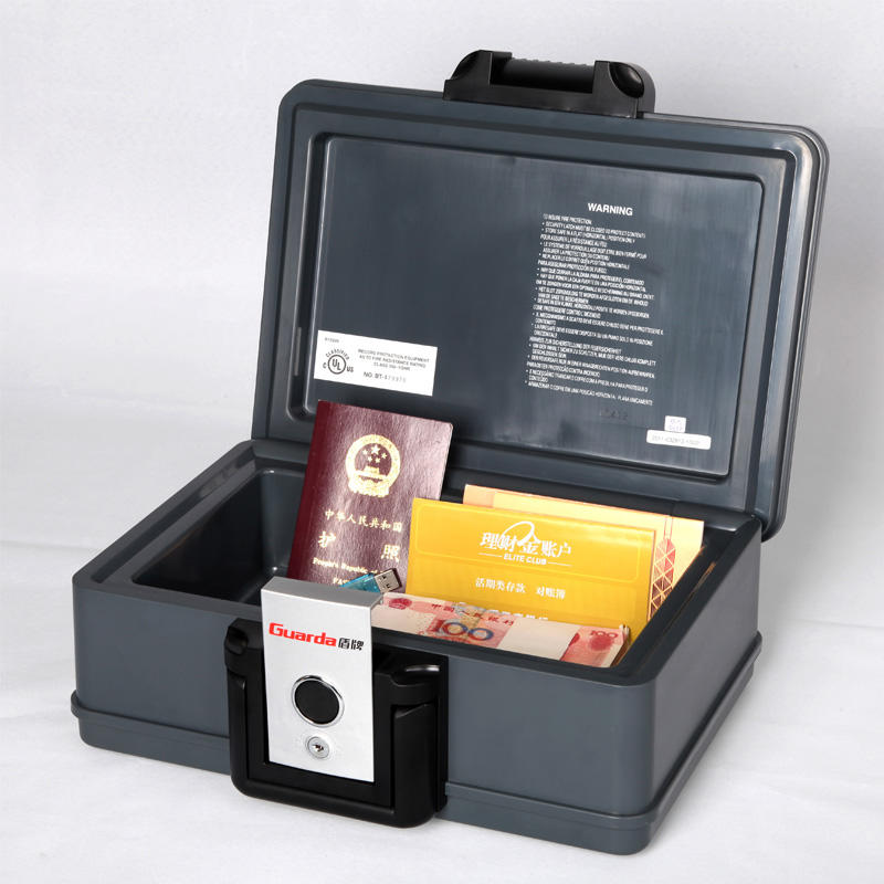 A5 Size 30 Mins Fireproof Safe Chest 354*282*154mm with Key Lock