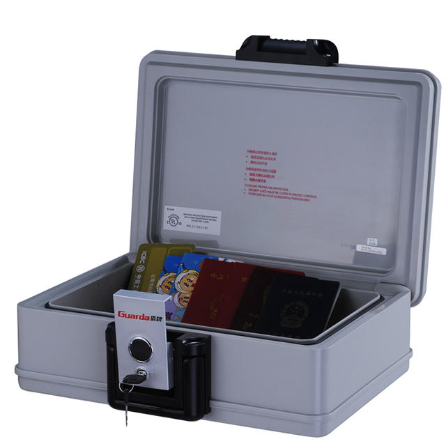 Ivory white portable 30 mins fireproof waterproof chest 407*321*155mm ,a4 size