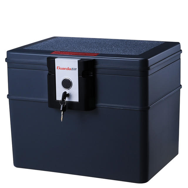 Key lock gray color 30 min files storage fireproof waterproof safe box 407*321*329mm,first alert hot sale safe chest