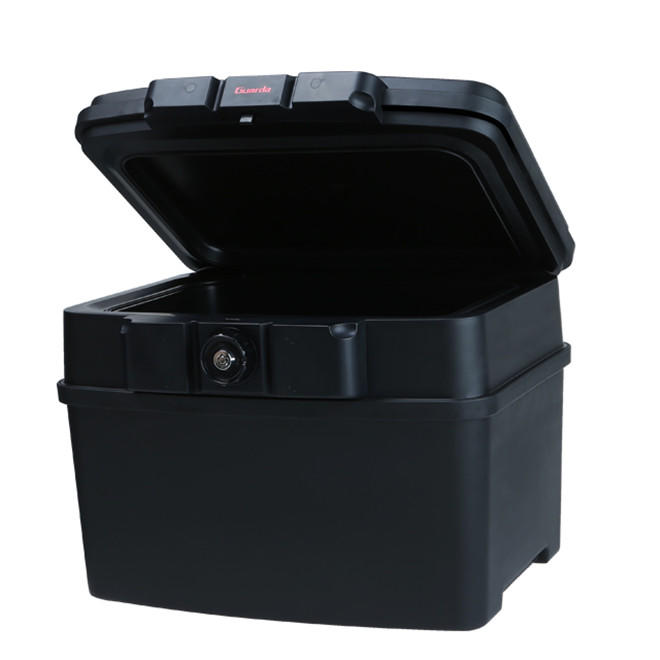Plastic a4 size files safety box with strong fire resistant water resistant