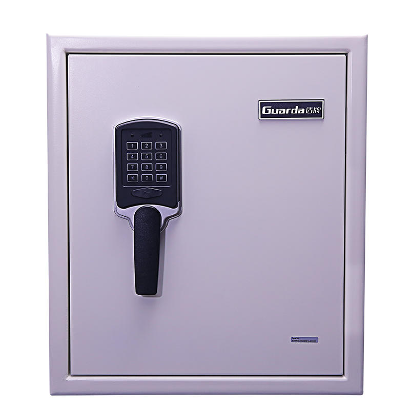 Fire resistant steel security box with white color and digital lock