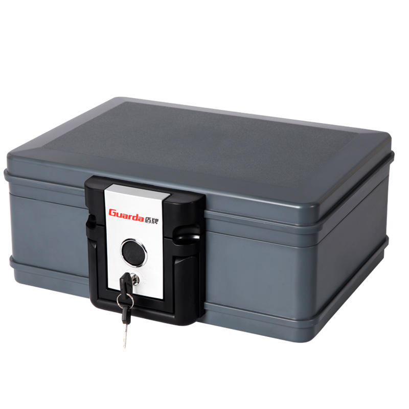 Guarda 30 Mins Fire Proof Chest Seal Waterproof Safe Box for B5 Size Certificate or Envelopes, Key Lock Safe