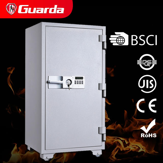 Large Office Steel Files JIS 2-Hour Fireproof Safe Box with Double-Key Safety Lock, 5.8cuft. /165L (Guarda 7058D)