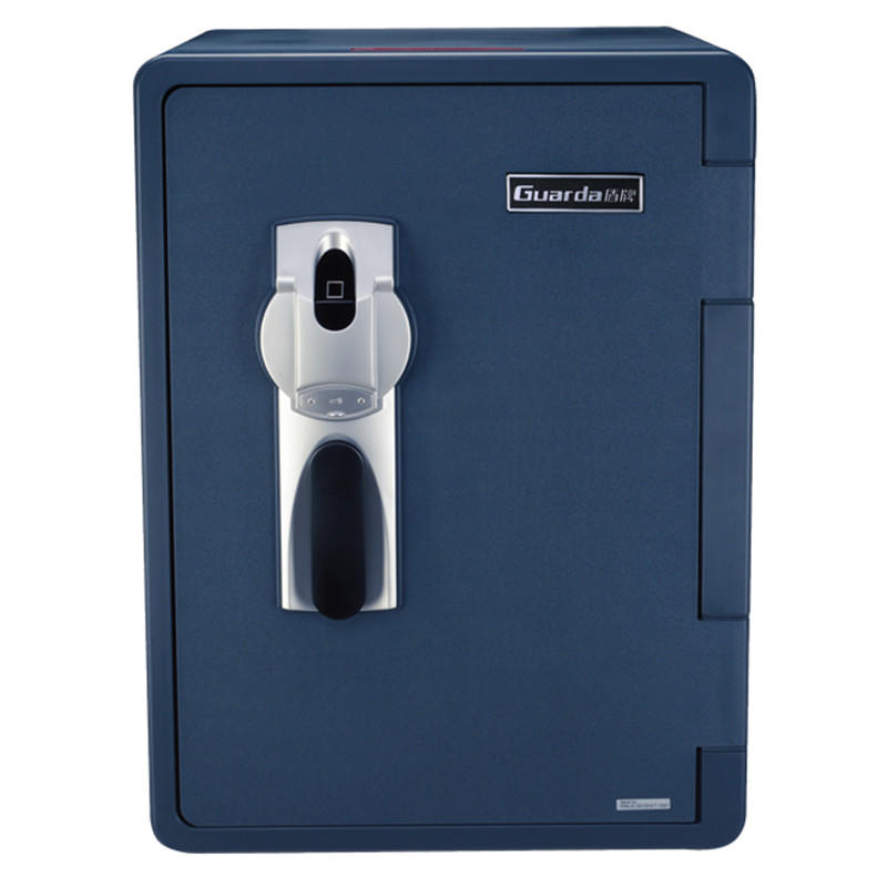 America Hot Sales Fire Water Resistant Safes, Emergency key Lock+Fingerprint Fireproof Safety Vault(2096LBC-BD))