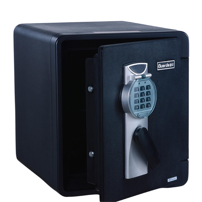 Black Digitallock and mechanical keys house safety box fireproof waterproof(2087DC-BD)