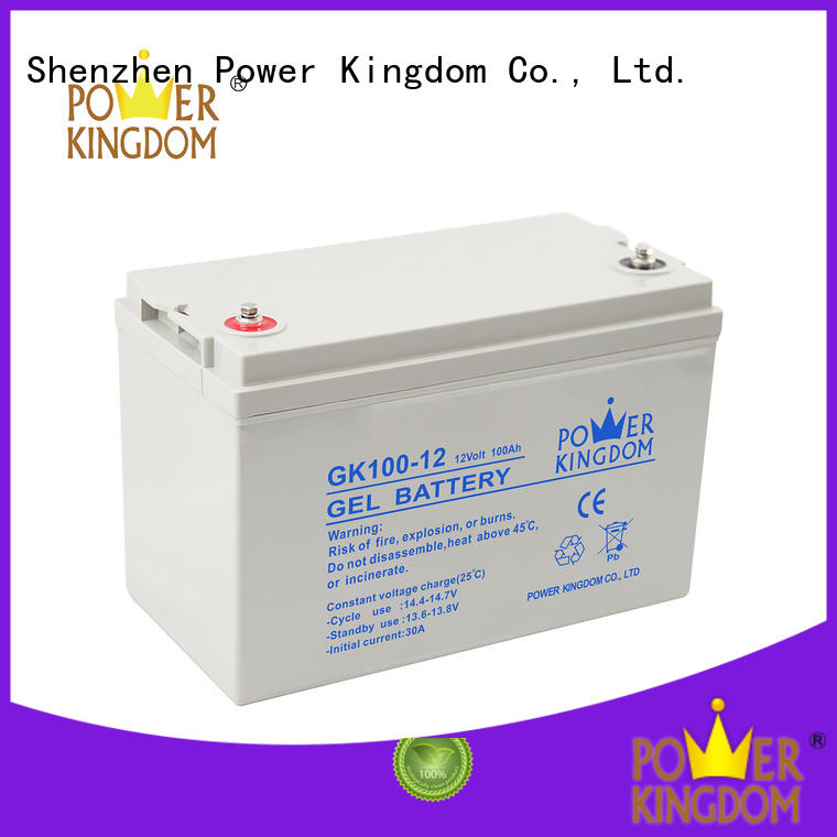 Power Kingdom rechargeable sealed lead acid battery design solor system