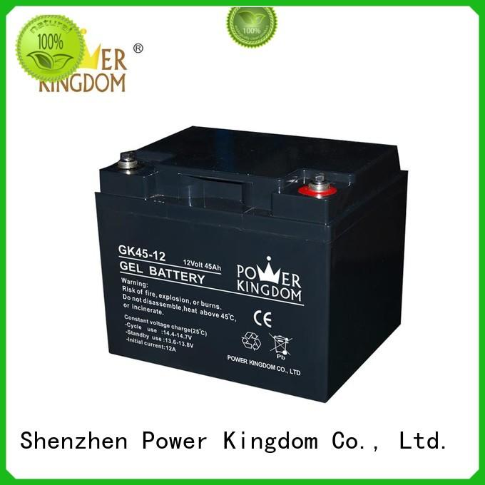 Power Kingdom long standby life rechargeable sealed lead acid battery design solor system