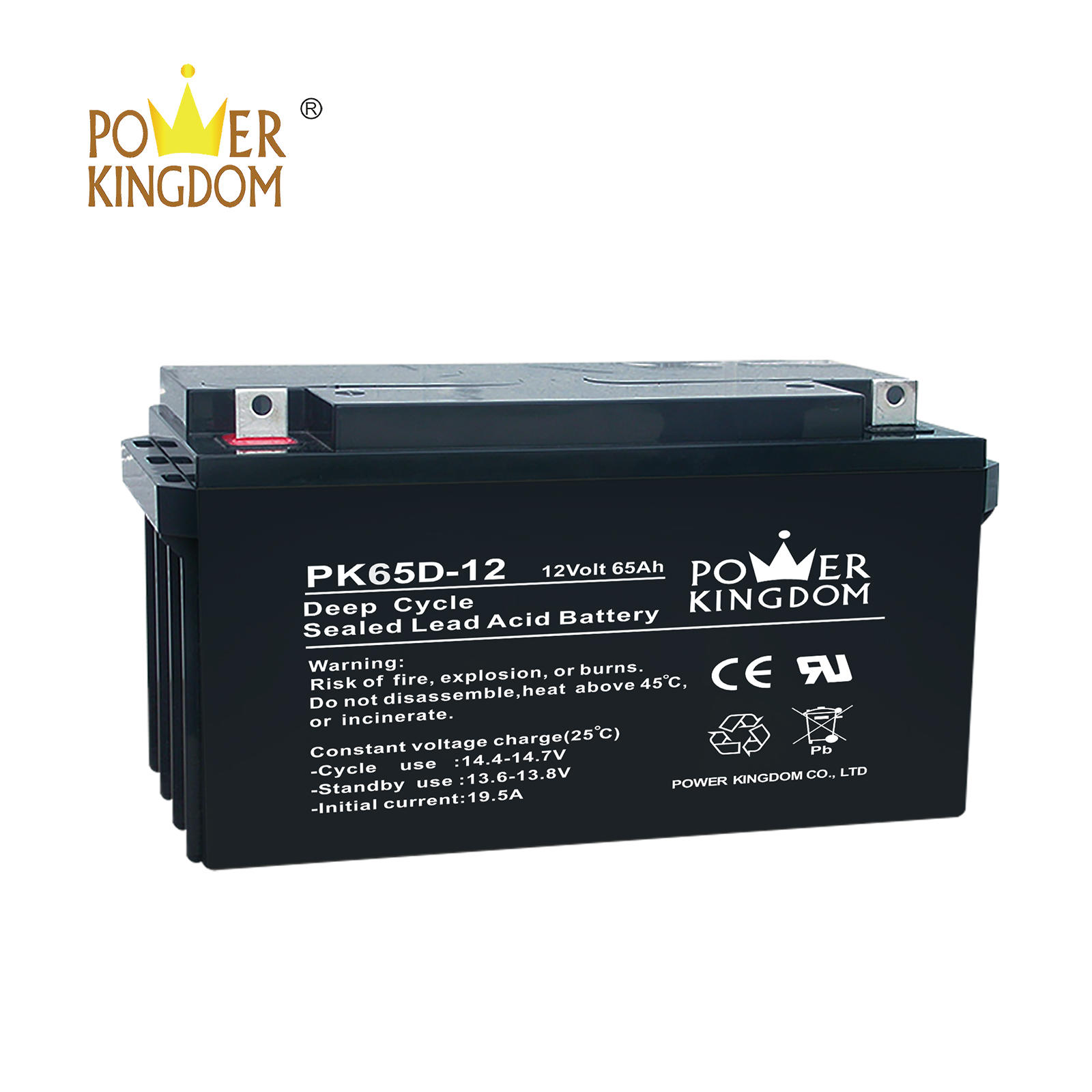 Power Kingdom 12v 65ah deep cycle GEL battery